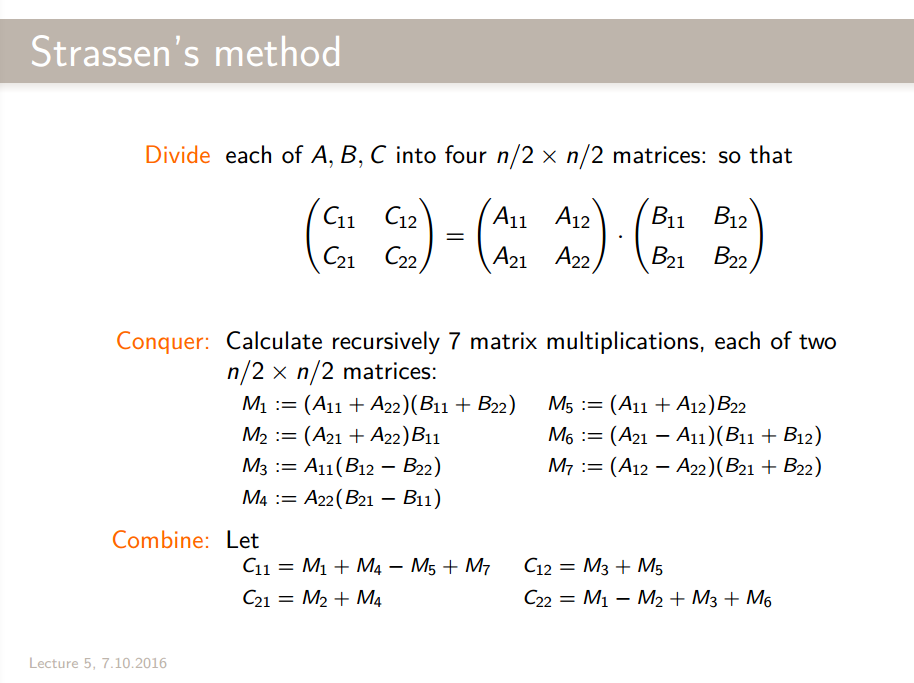 Strassen's method